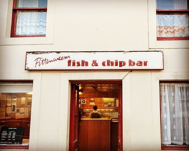 Hasn't changed a bit!  #Pittenweem #fishandchips #fife #signage #classic #Heritage
