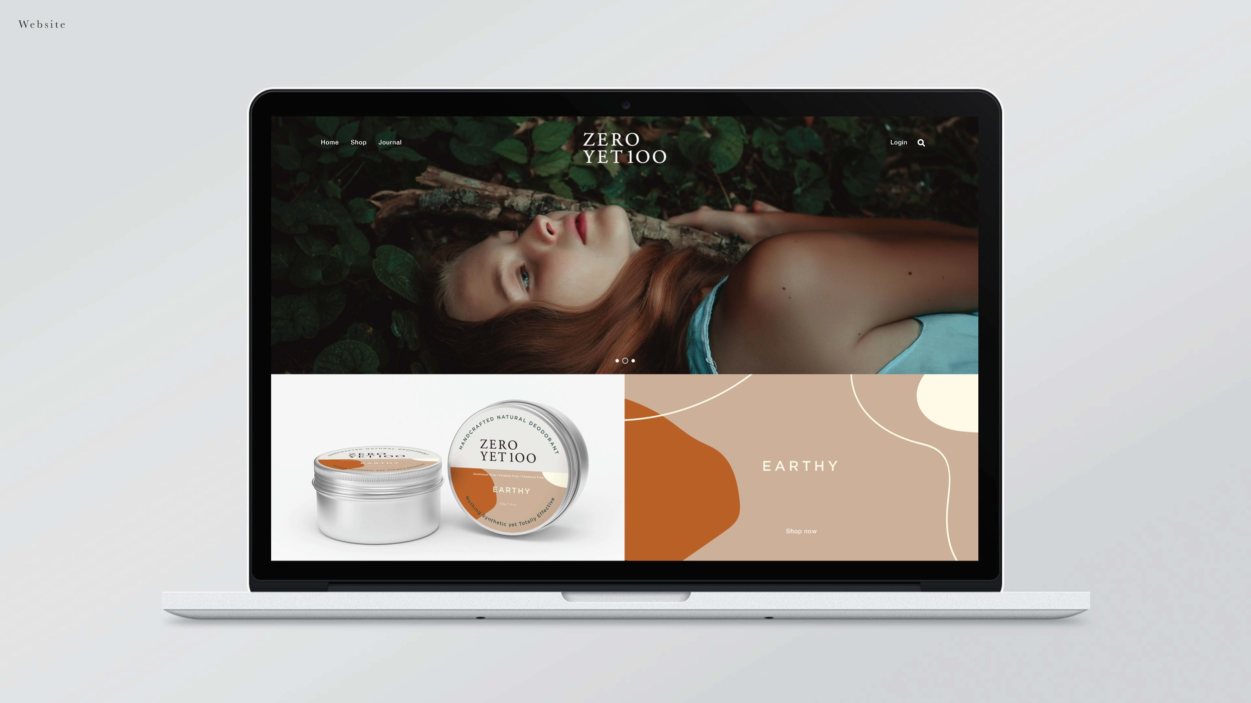 ZeroYet100    branding & photography for a natural skincare brand