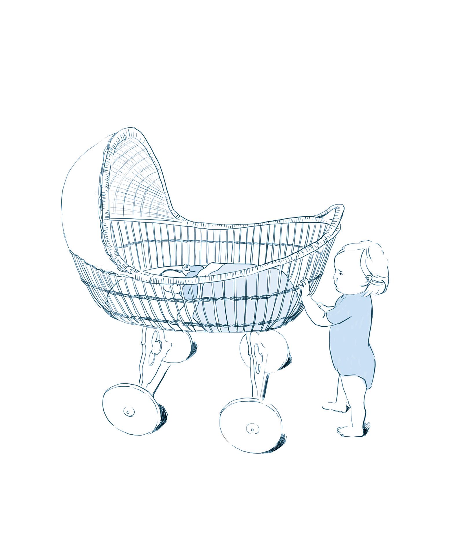geboortekaart   |  digitale schets