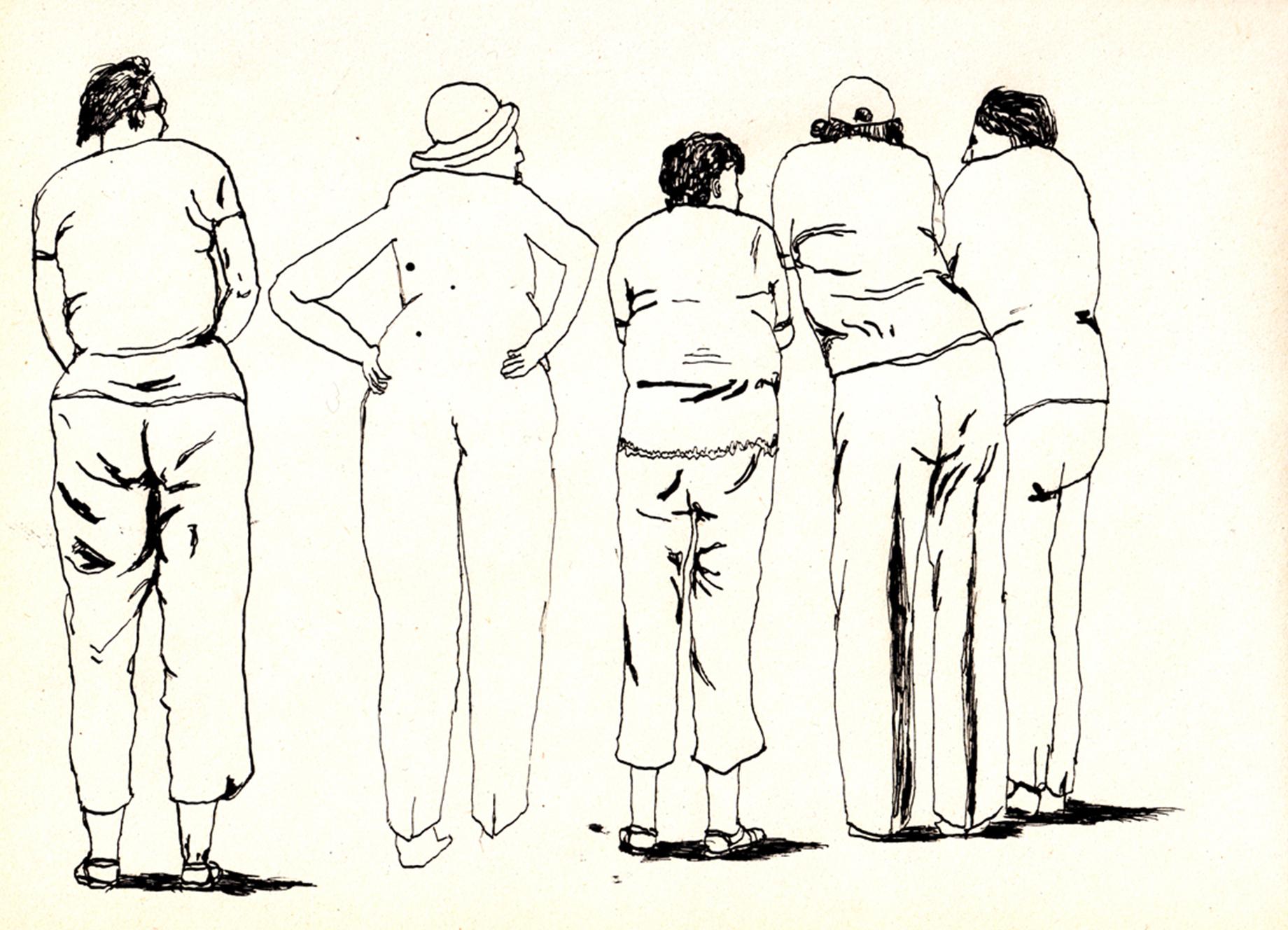 de billenclub  | inkt op papier