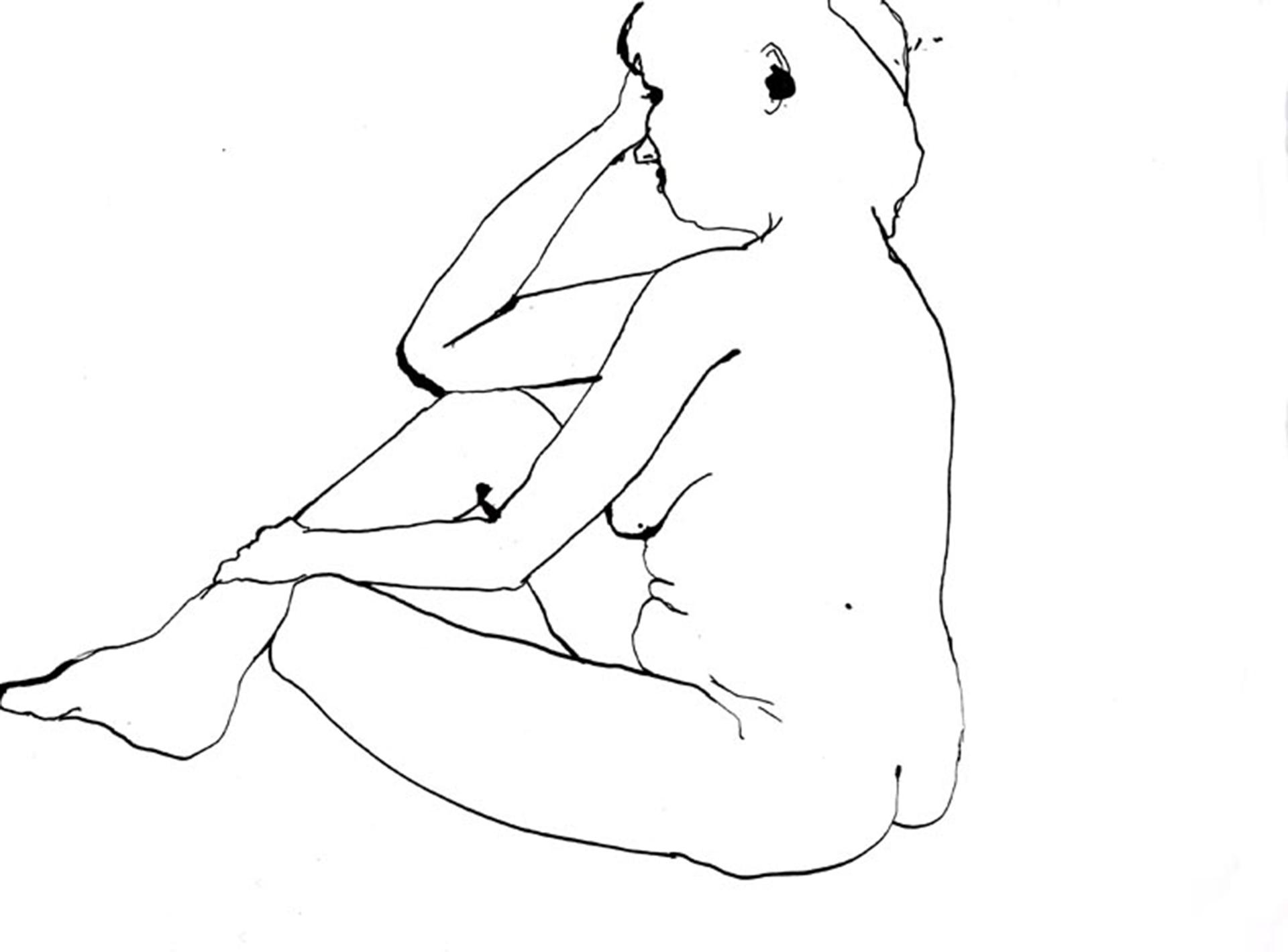 model irma  | inkt op papier
