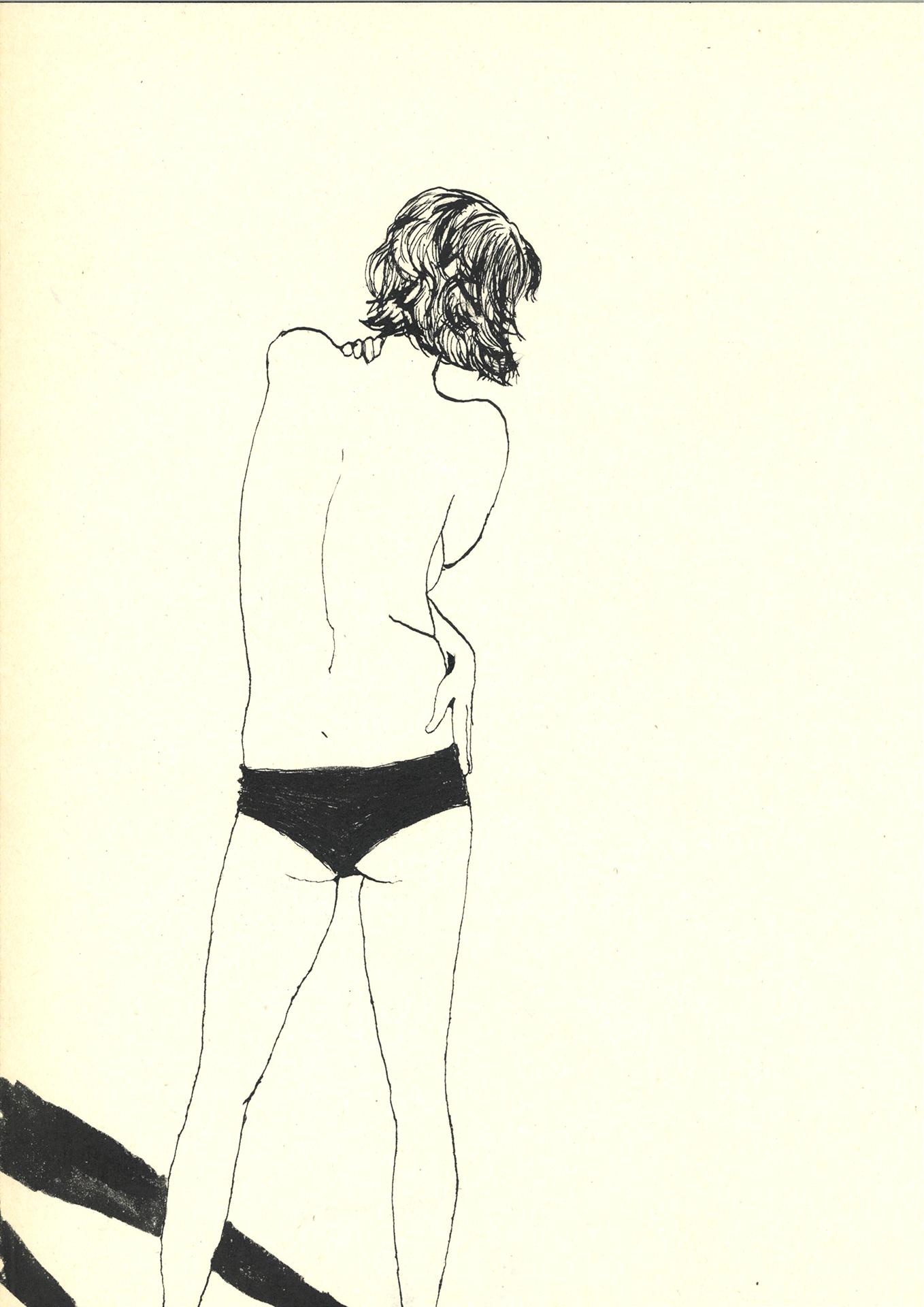 model puk   | inkt op papier