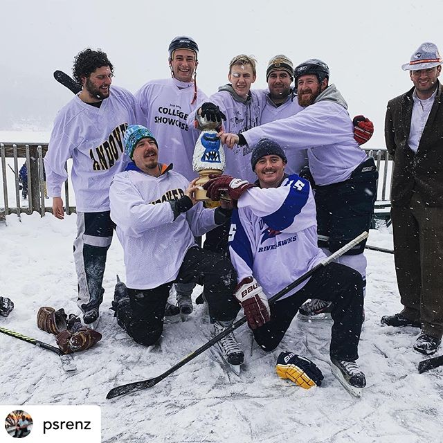 Here in New England, we know how tough it is to always be winners. But someone has to do it. Congrats to @psrenz on winning the Ship at #frostbitefaceoff2019 and absolutely #budlightthelampvt with almost 300 likes on his photo. Less is more if you want likes on the gram. Hail to the king baby! 🍺🔥🚨🏆 #pondhockey #frostbitefaceoff #budlight #amazon #cuetheduckboats #outdoorhockey #championship #beerleaguehockey