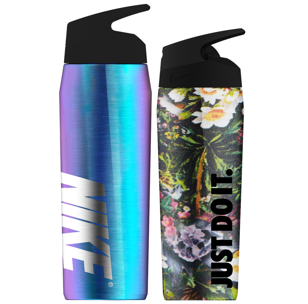Nike Color, Material & Finish Trend Work - A comprehensive, trend-led hydration collection for Nike that showcases product surface design innovation to launch a product expansion into insulated drink ware.