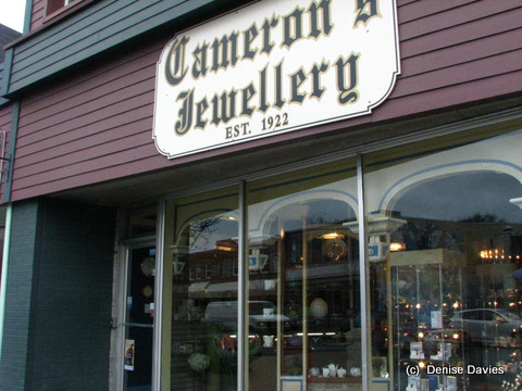 Camerons Jewllery, Antigonish, NS.