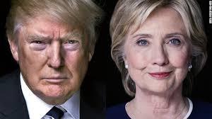 The American Presidential candidates:Republican Donald Trump and Democrat Hillary Clinton.