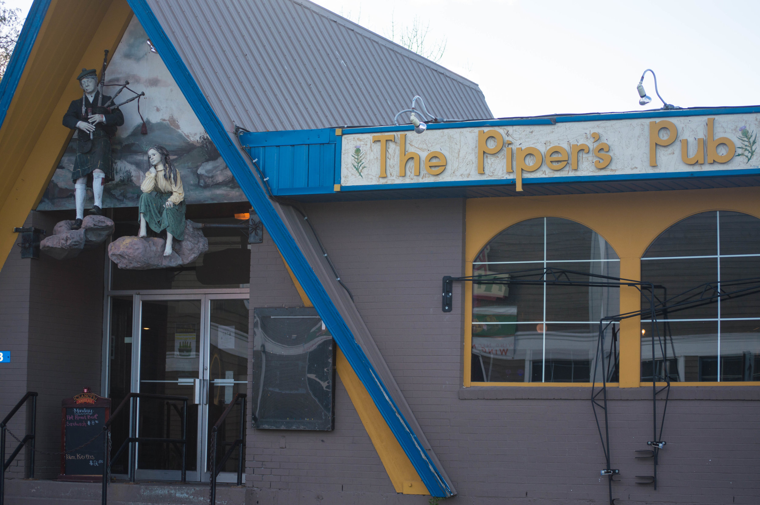 Front entrance to Piper's Pub. Photo courtesy of Jessica Fullerton.