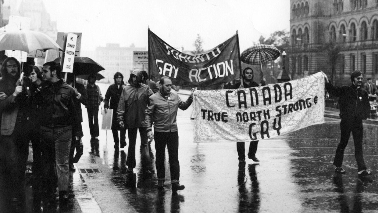 A 1971 demonstration opposing the limitations of the 1969 Omnibus Bill - Jerald Moldenhauer