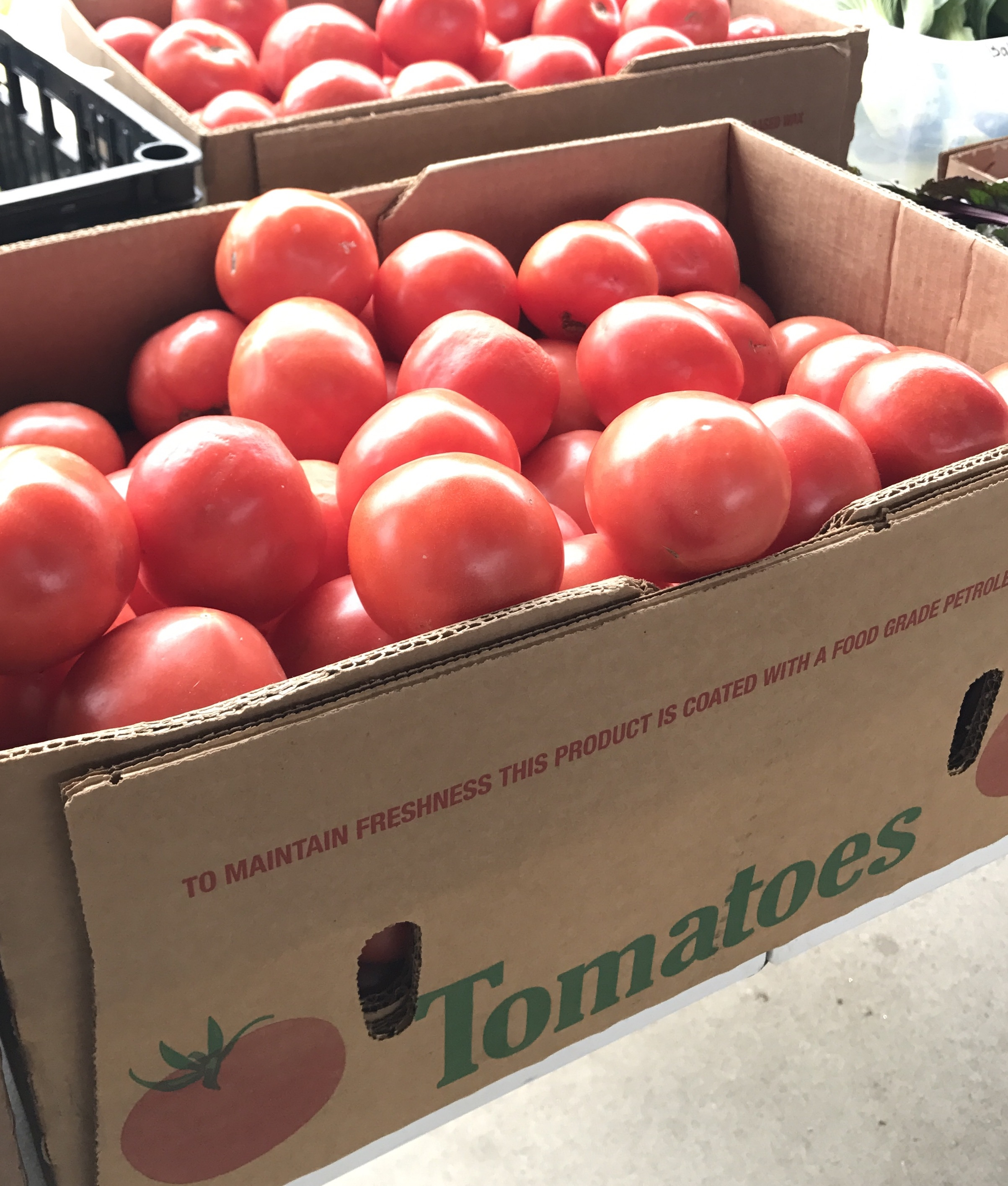 Buying produce in bulk is a great way to support farmers with overstock, and get more pounds for your station.