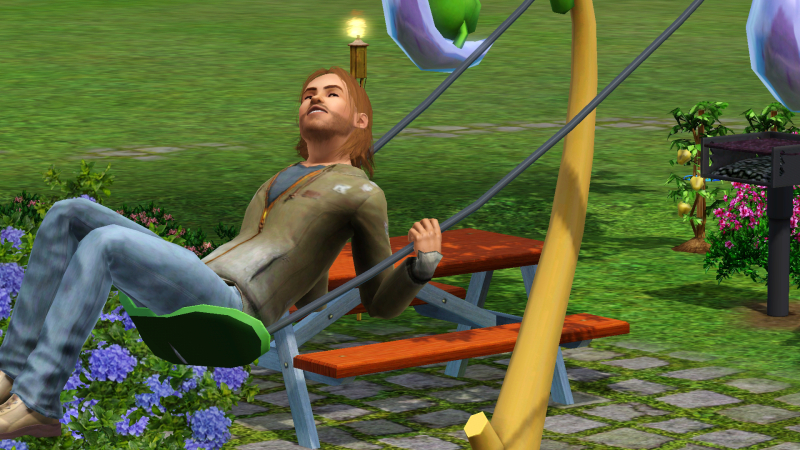 Dumpster Dan from on of my Sims 3 challenges.