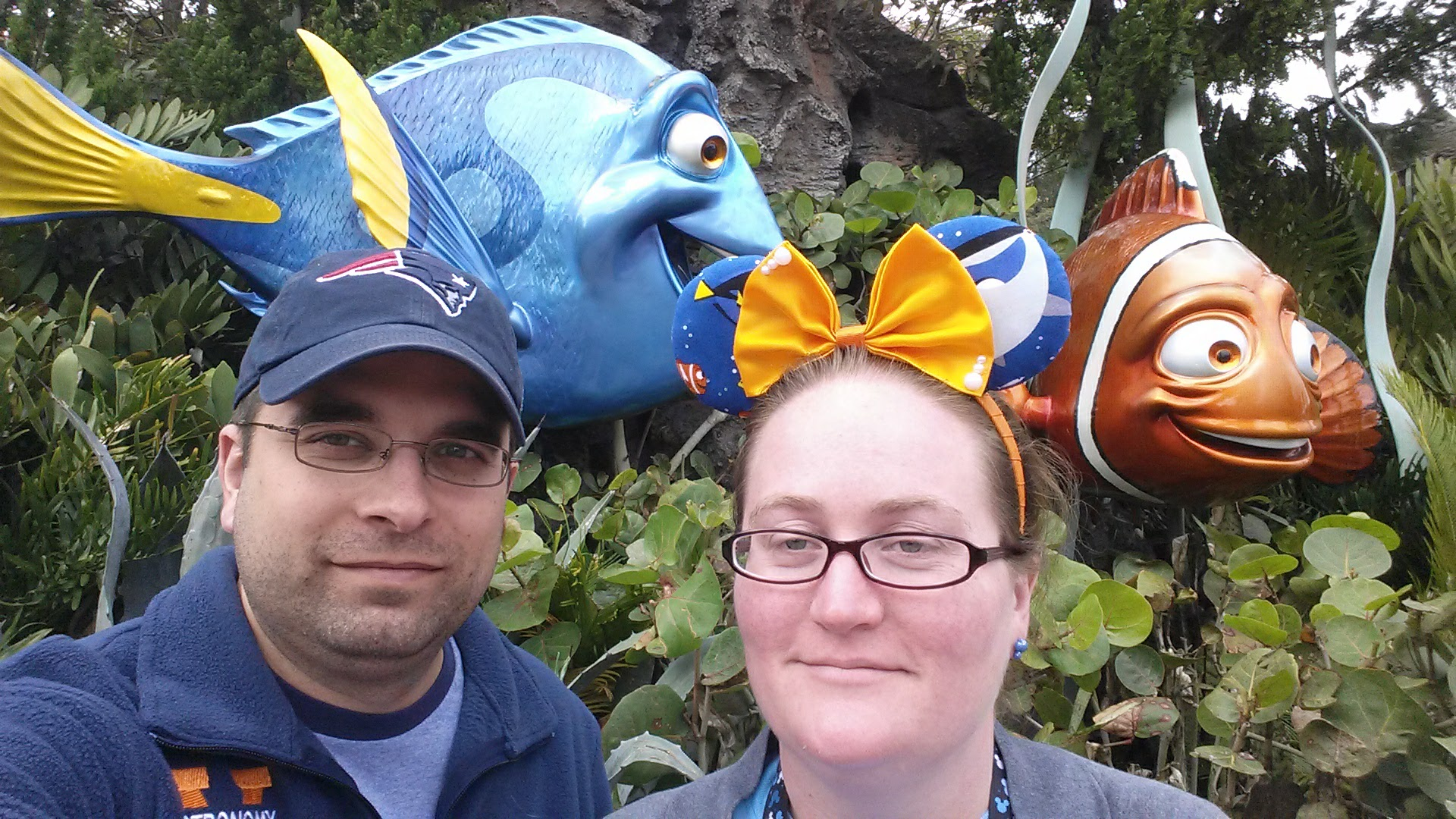 In front of my Dory!