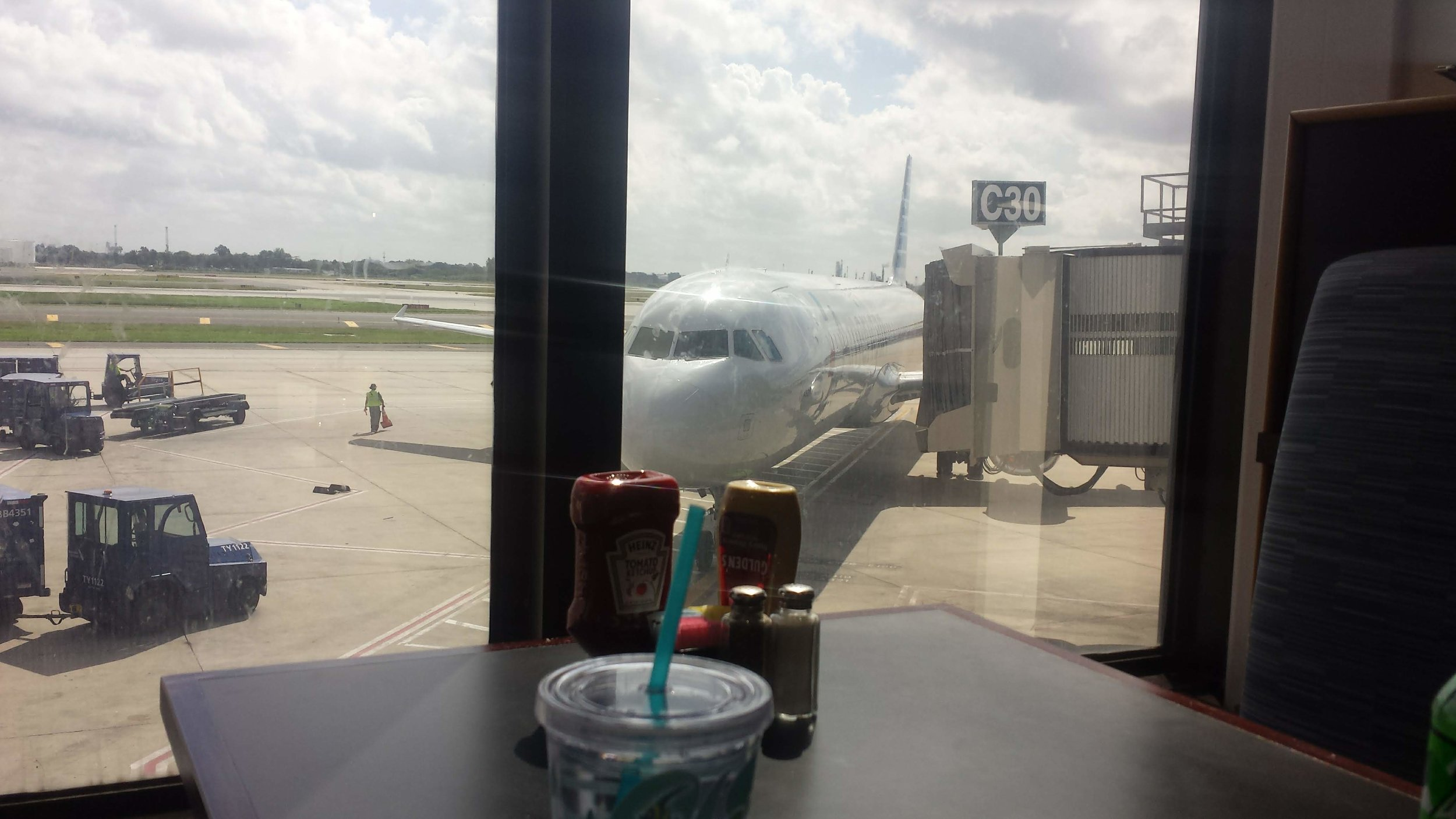 Out the window at our lunch table at the Philly airport.
