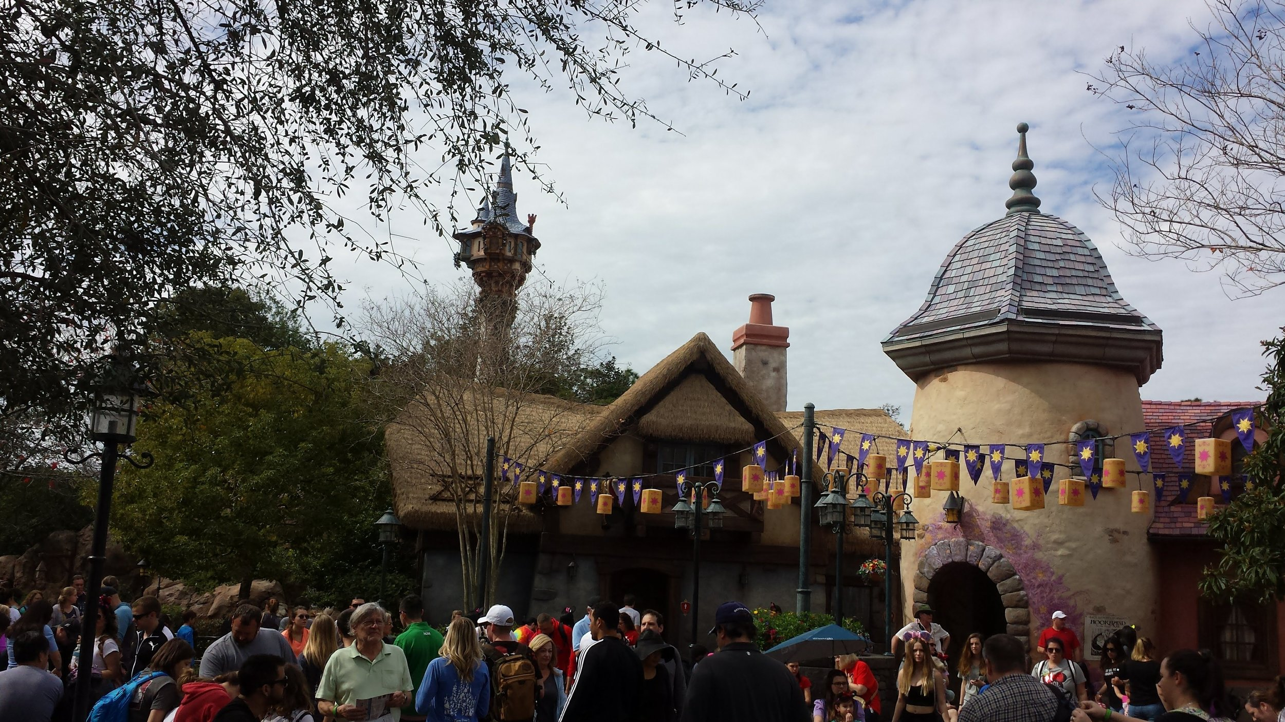 The most attractive bathroom exterior ever: the tangled bathrooms in the magic kingdom.