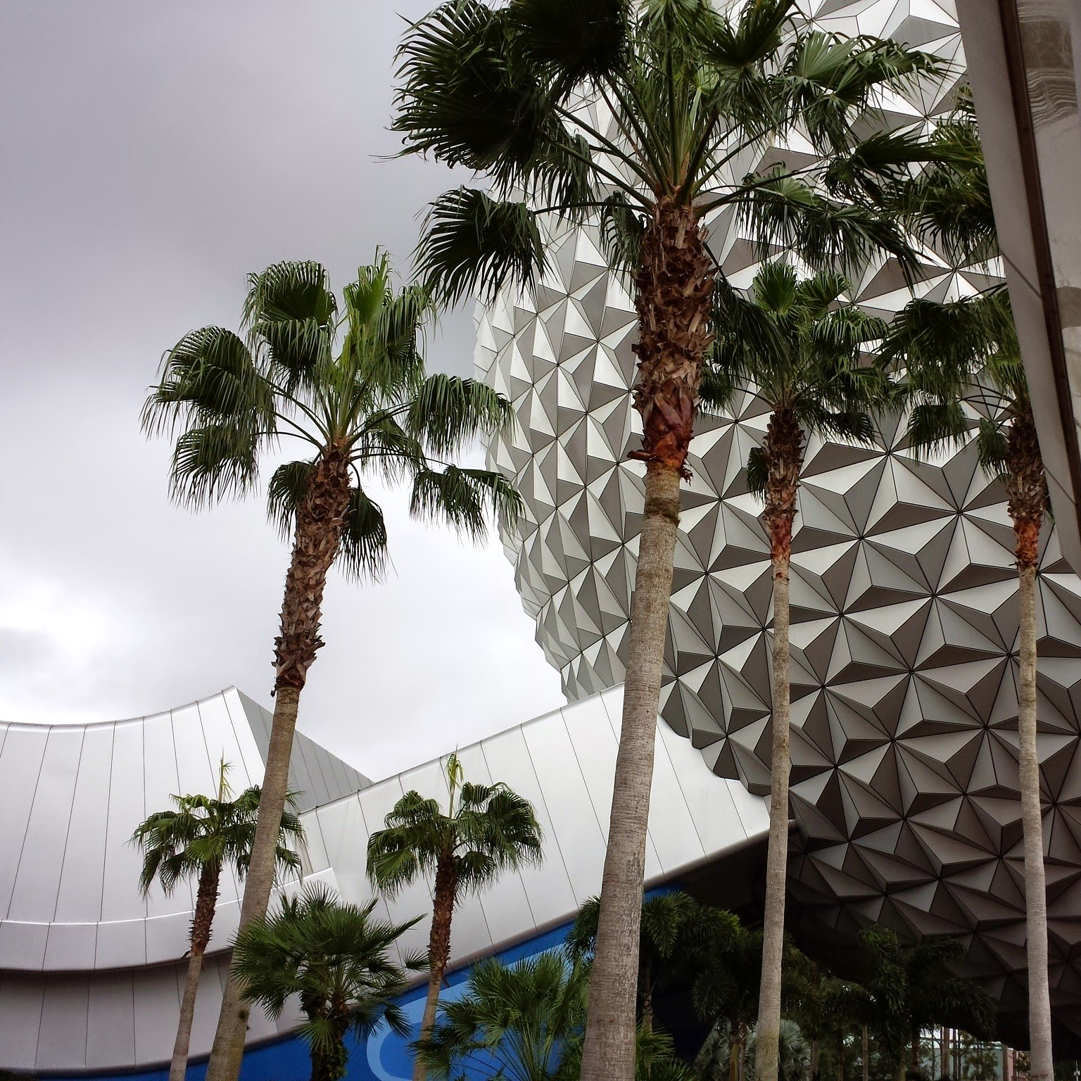 """The iconic Epcot """"golfball"""" that houses the ride Spaceship Earth."""