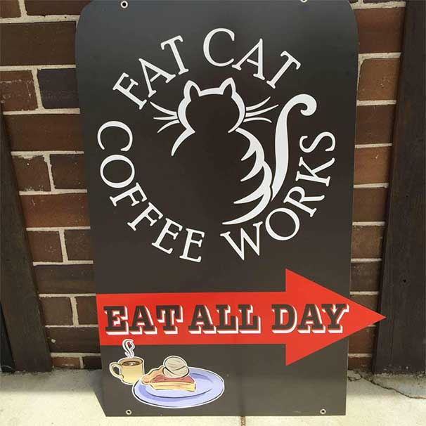 Fat Cat Coffee Works - Coffee | Breakfast | Lunch | Wine | Beer