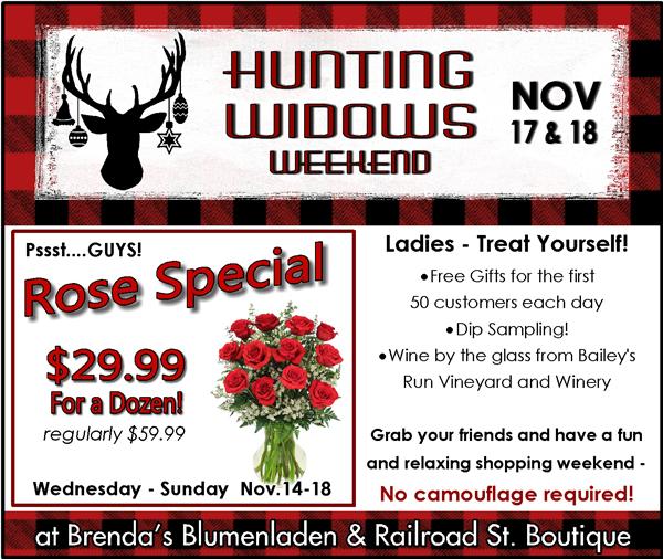 IMAGE Hunting Widows Weekend at Brenda's Blumenladen in New Glarus