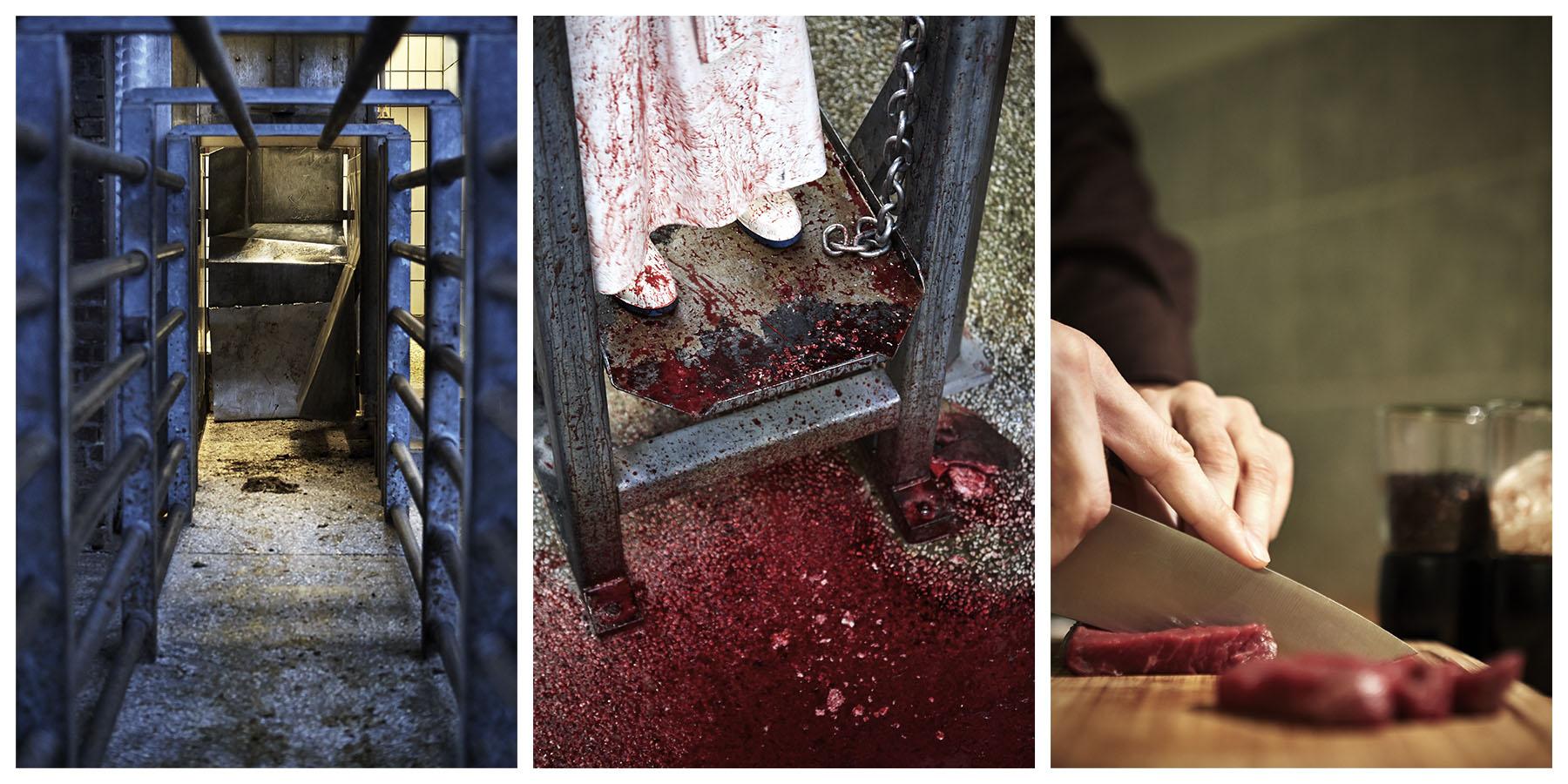 Schlachthaus-Serie-Blut-Messer