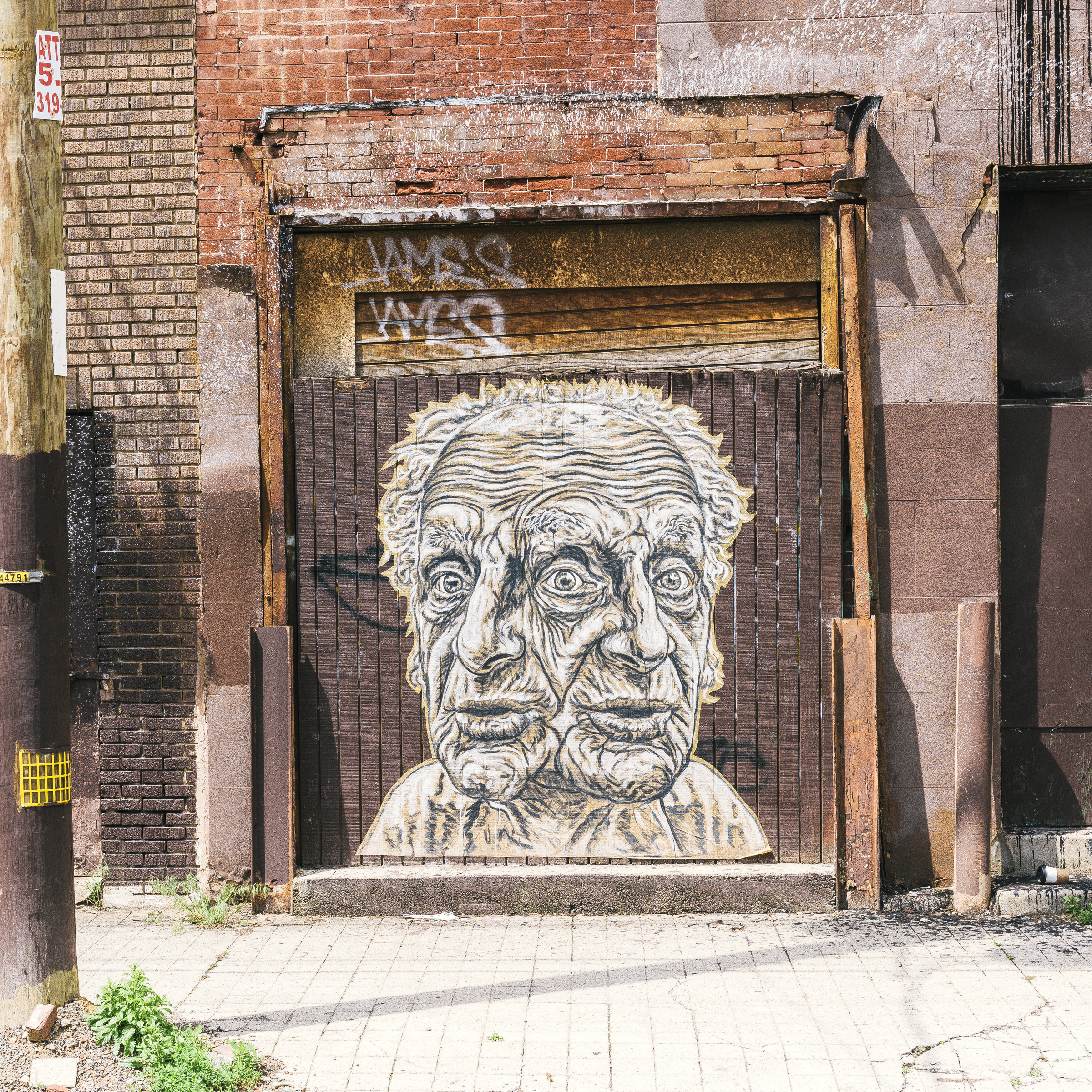 One of many local murals and public arts.