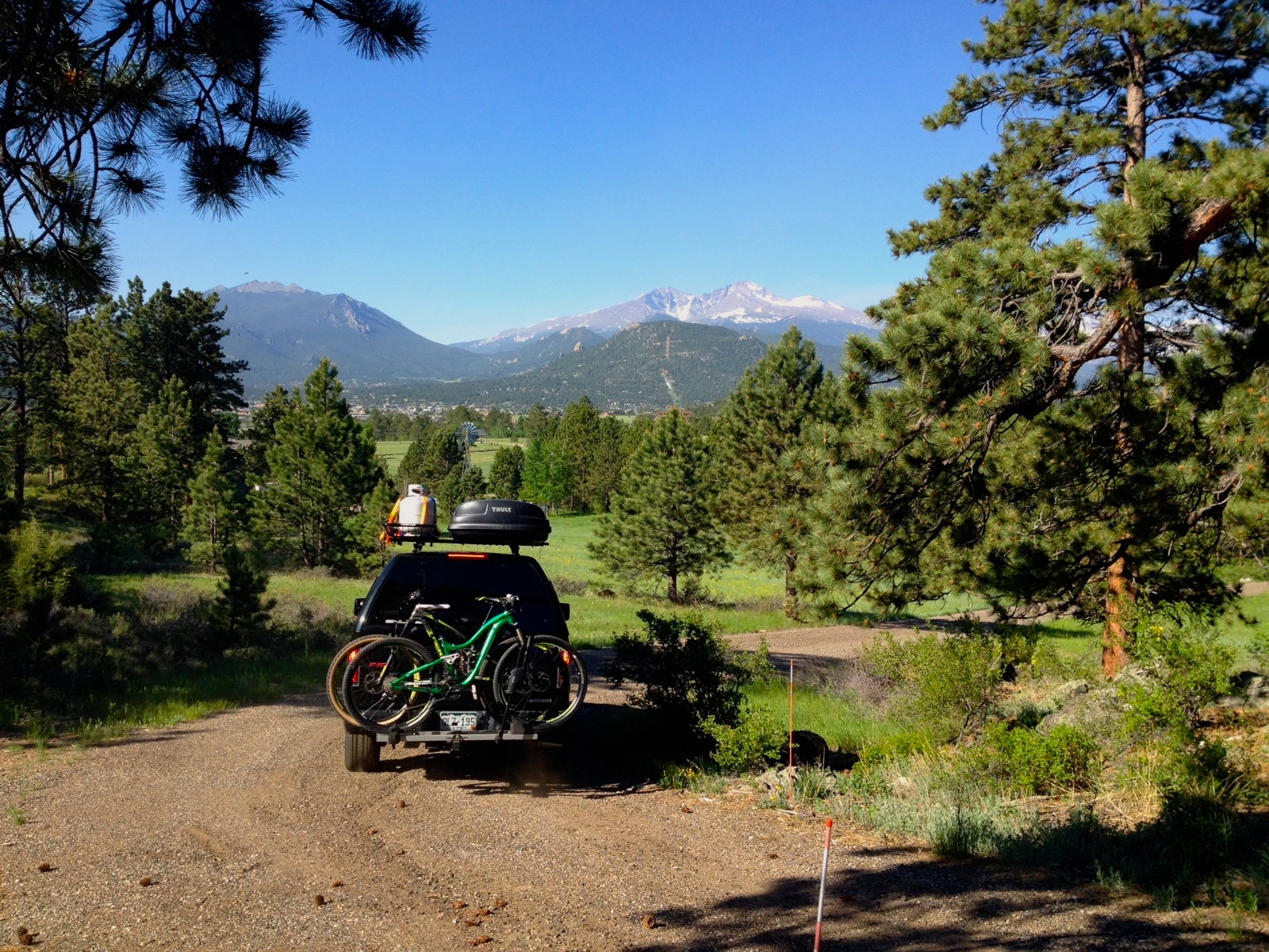 Driving off from Estes Park, CO