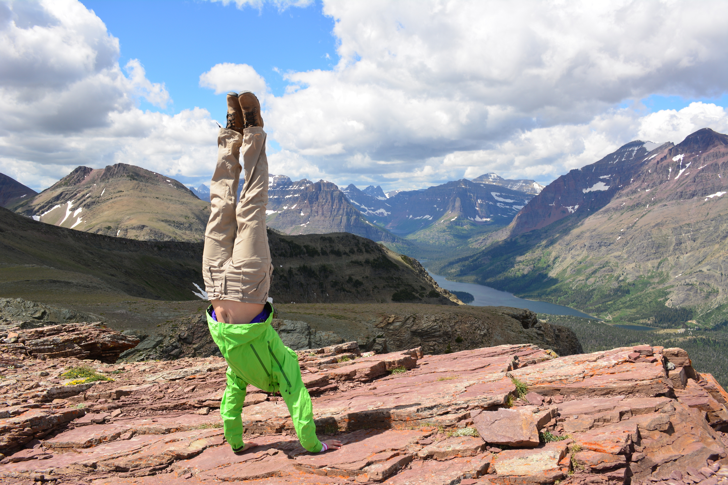 Handstands at the top of Scenic Point
