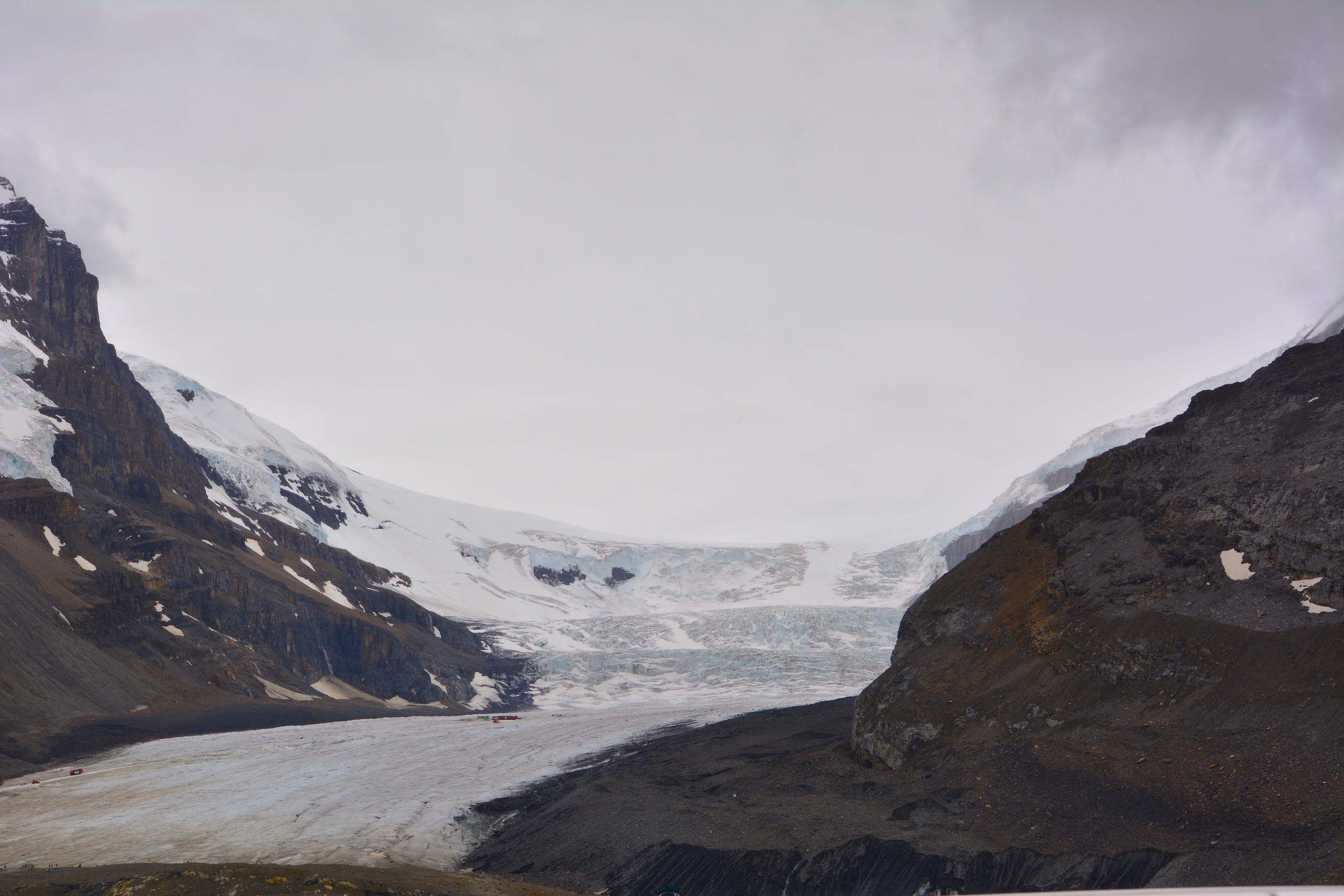 Views of the Columbia Icefield along the Icefield Parkway