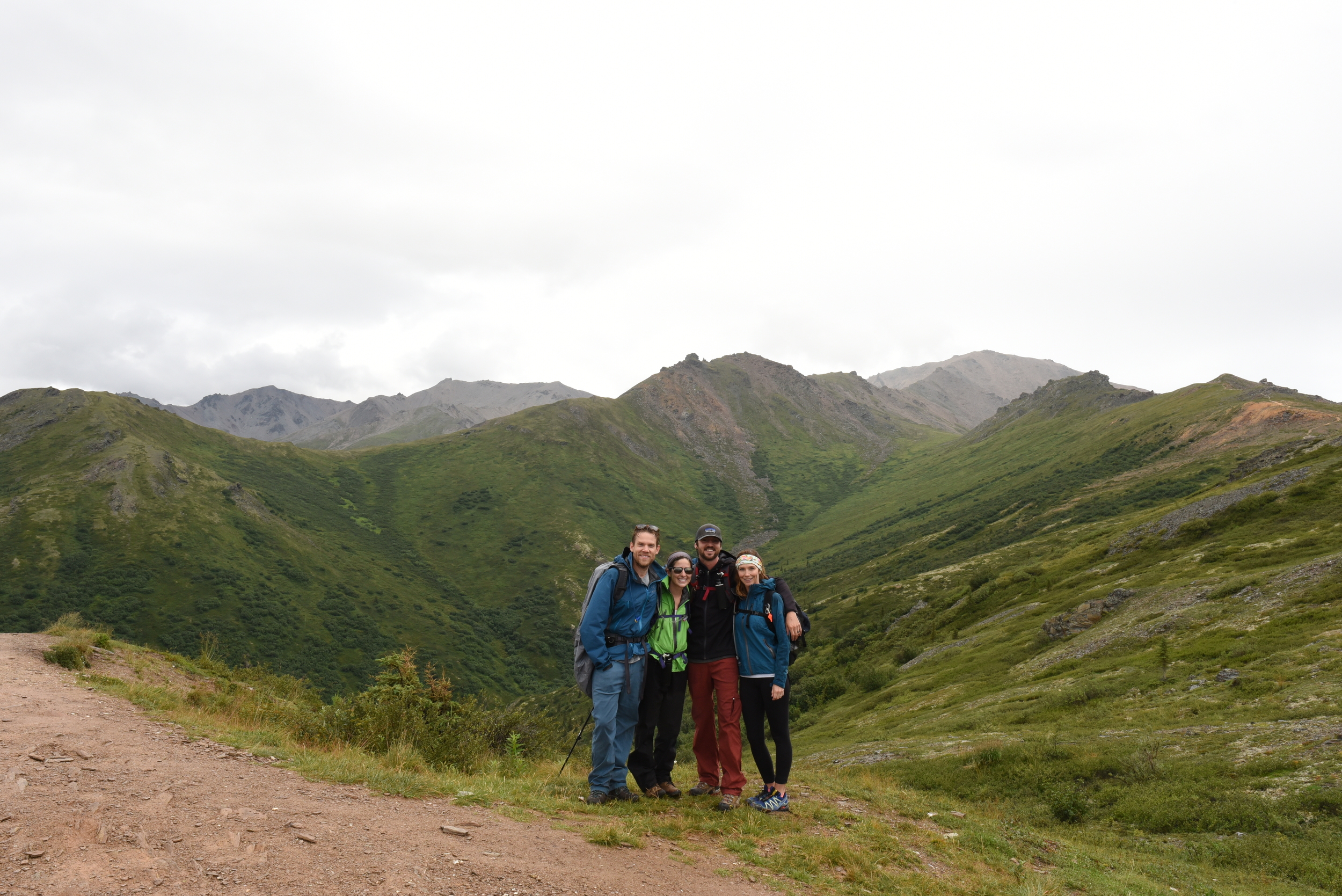 Hiking in Denali with our new friends David and Tracey