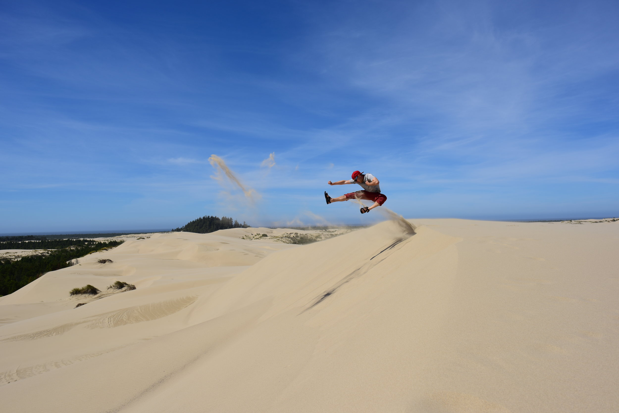Karate moves on the Oregon Sand Dunes