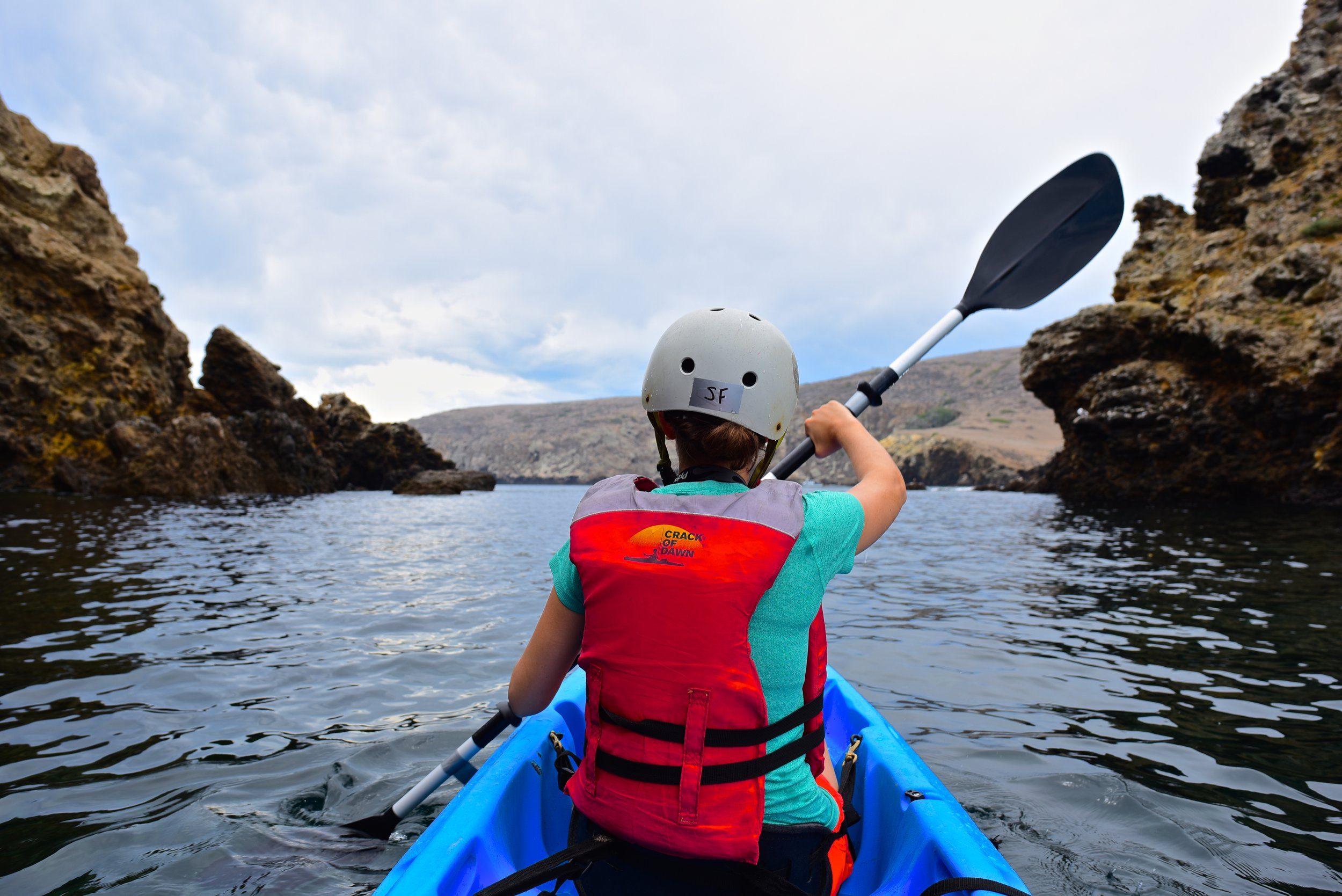 Sea kayaking off the Channel Islands