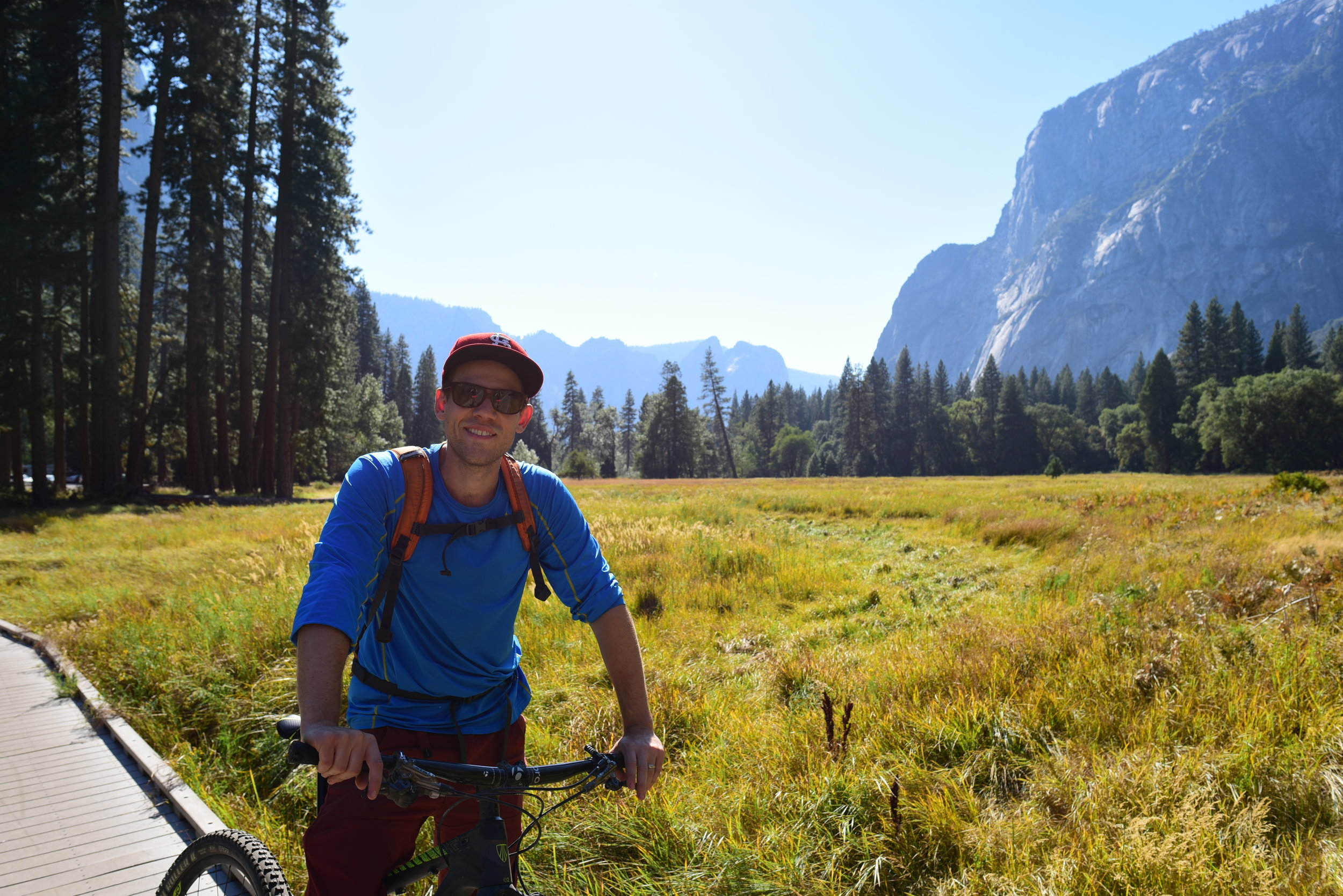Riding through the Yosemite Valley