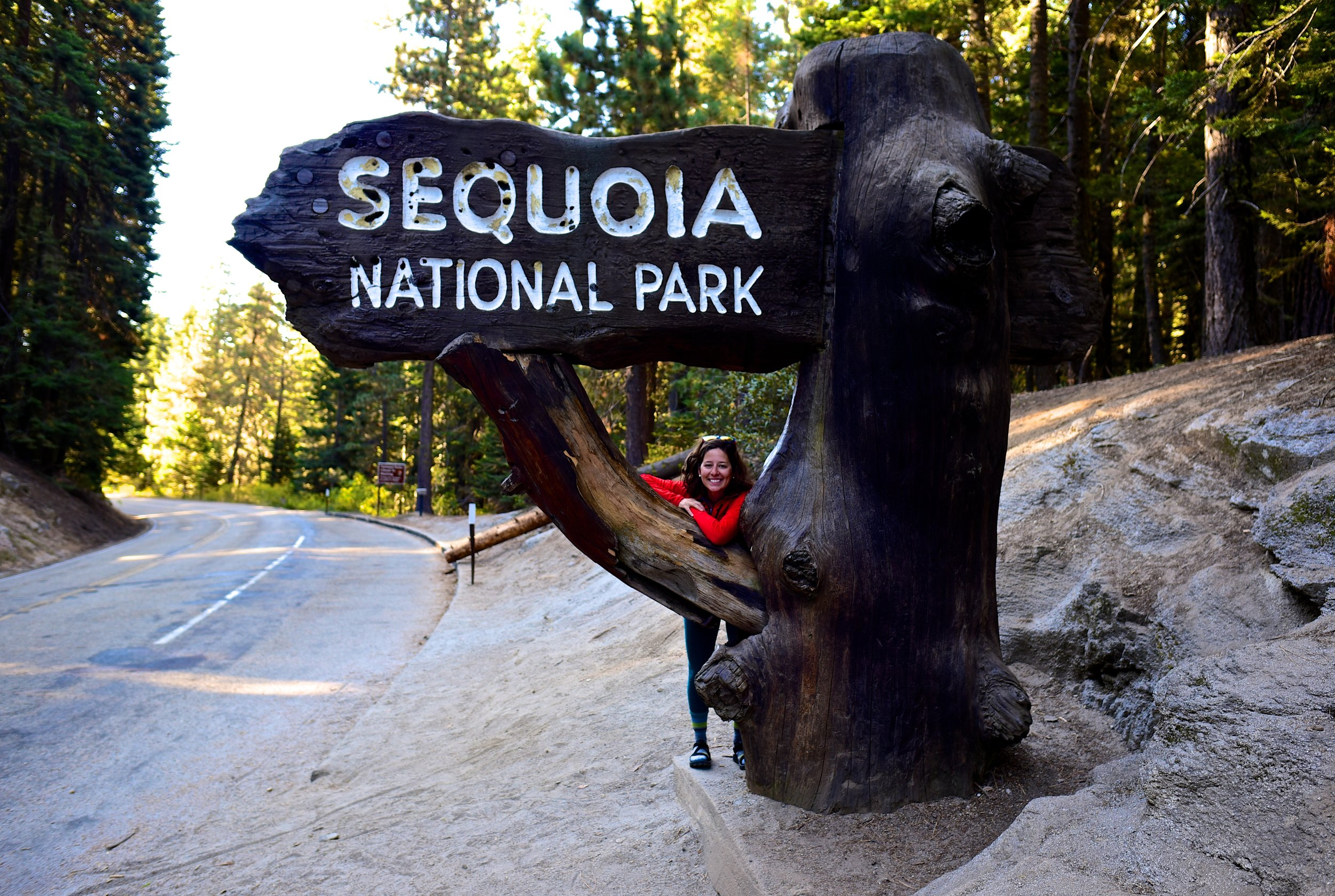 Entering Sequoia National Park