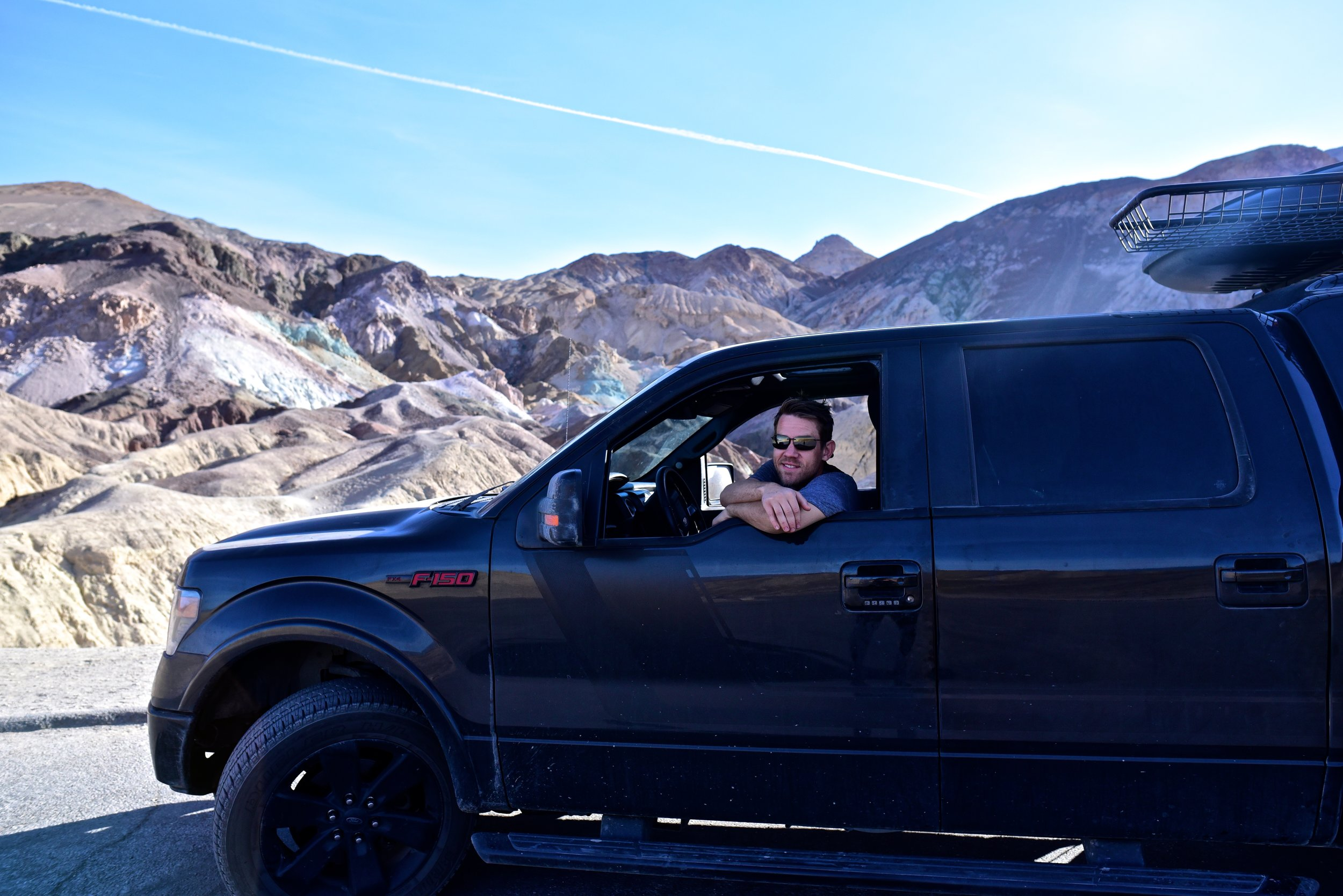 Michael driving Artist's Drive in Death Valley