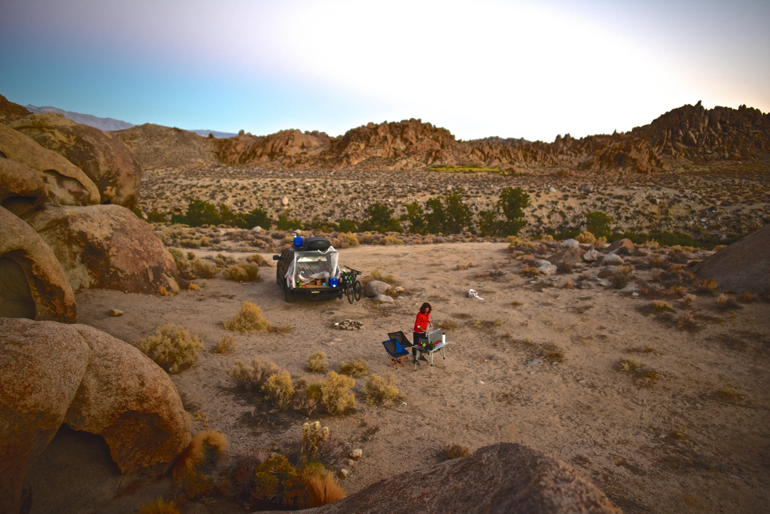 Camp cooking in the Alabama Hills