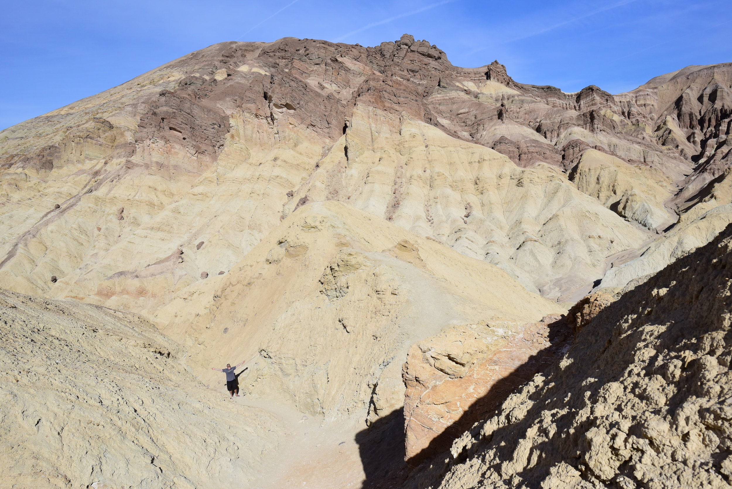 Hiking through Golden Canyon in Death Valley