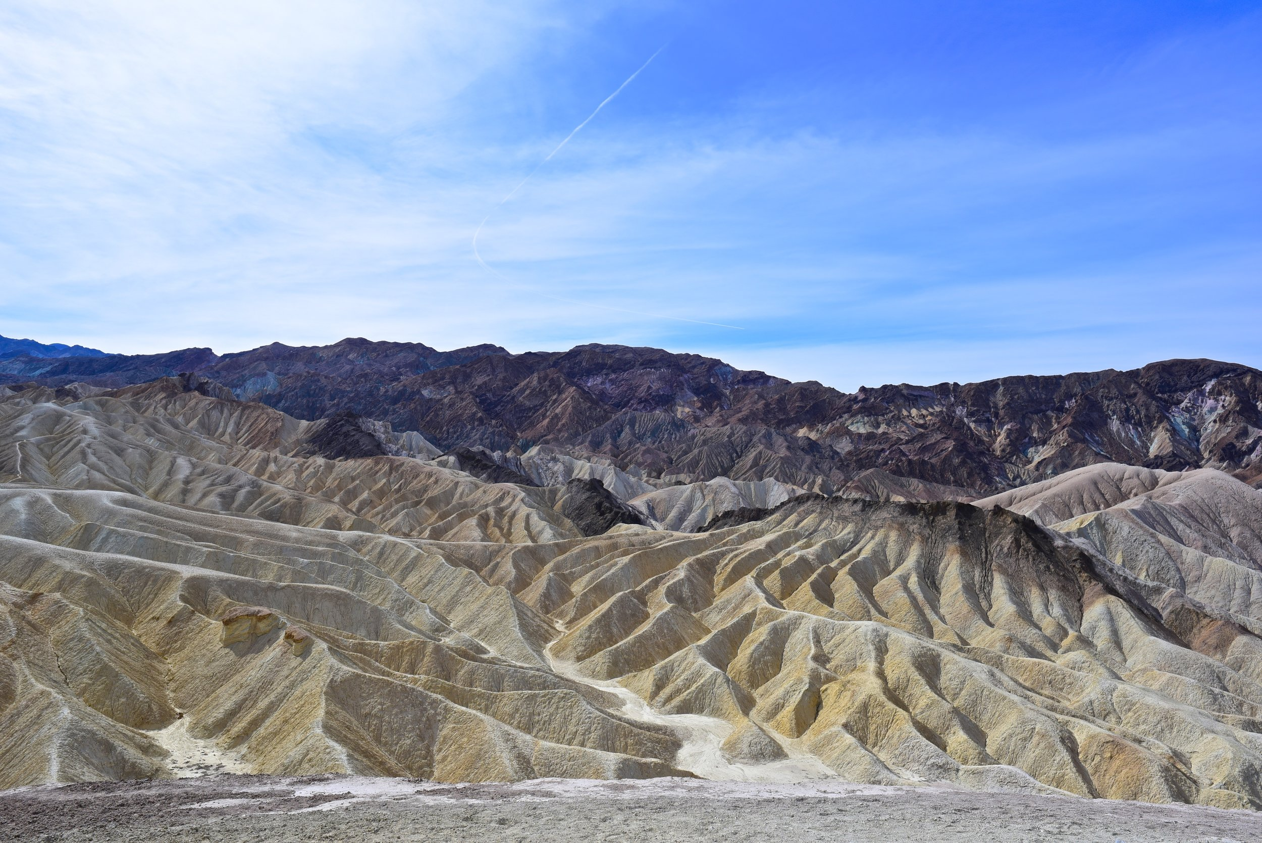 The view from Zabriskie Point in Death Valley
