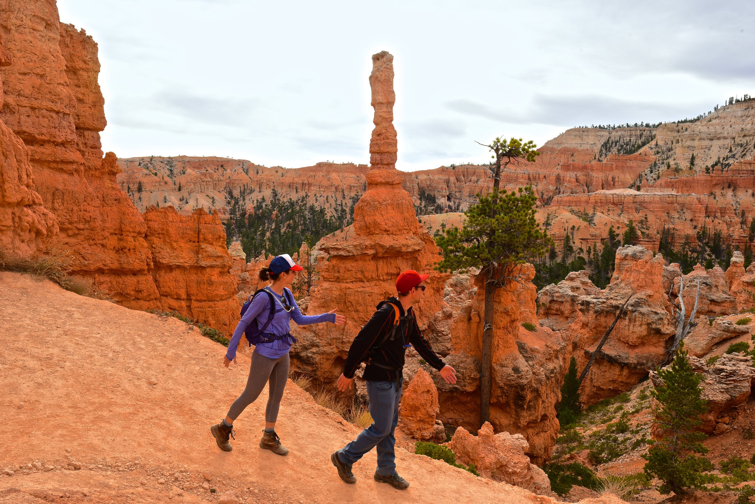 "This was our ""Abbey Road"" reenactment in Bryce Canyon :)"