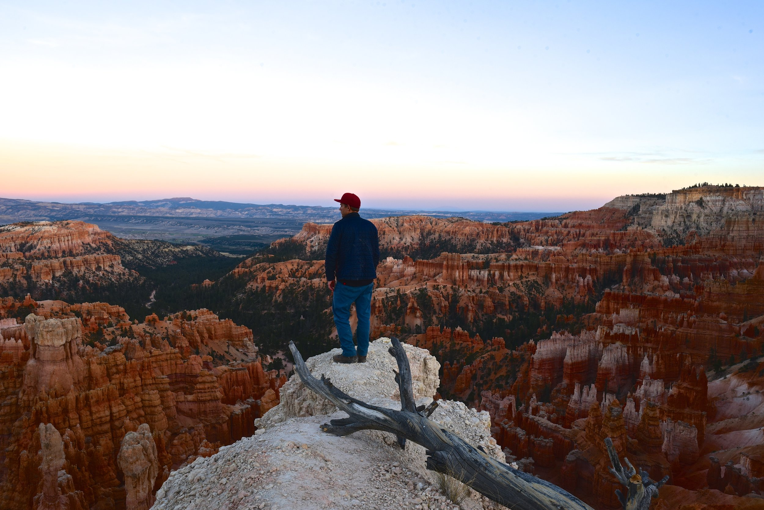 Our first views looking down into Bryce Canyon during sunset