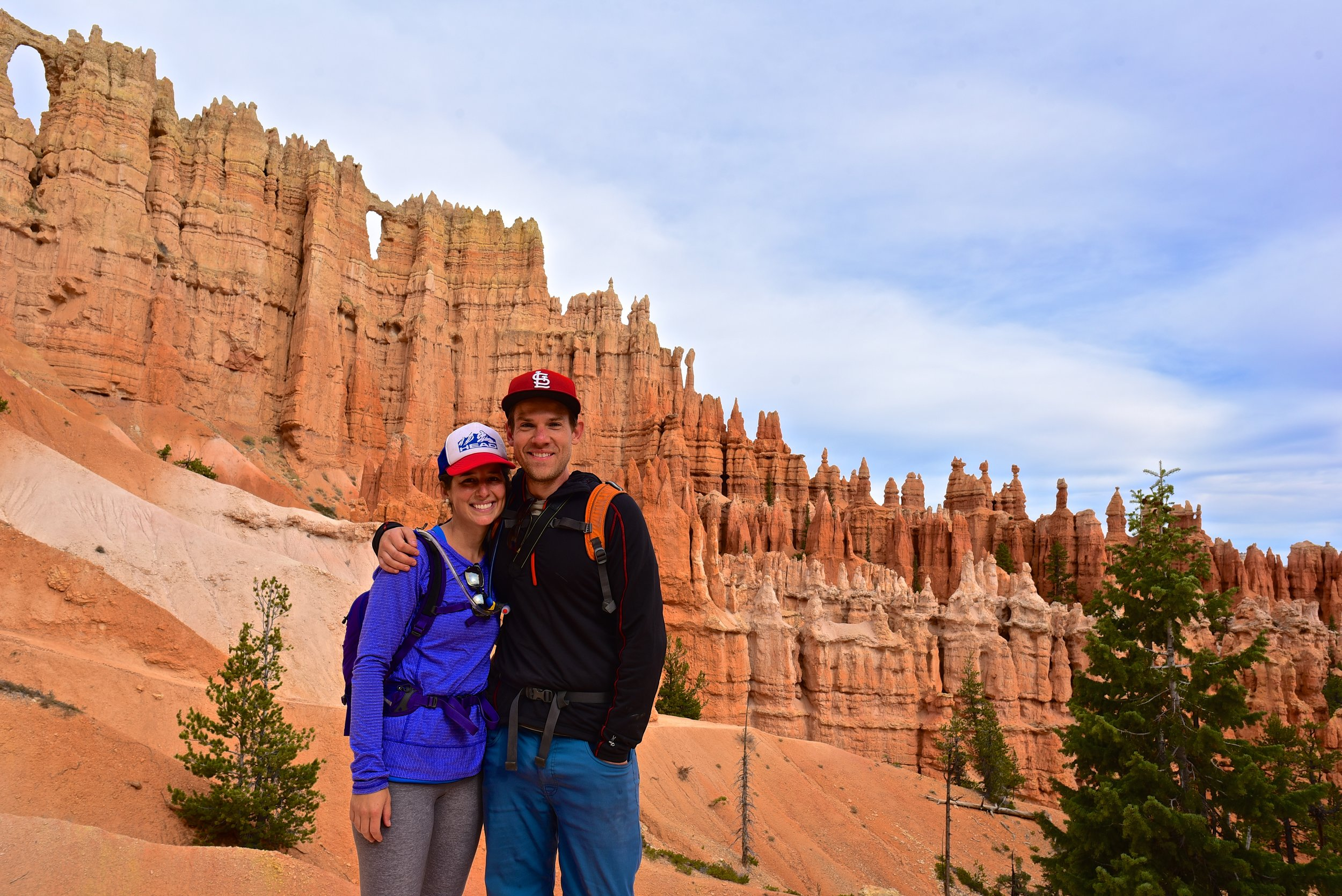 Standing in front of the Wall of Windows in Bryce Canyon