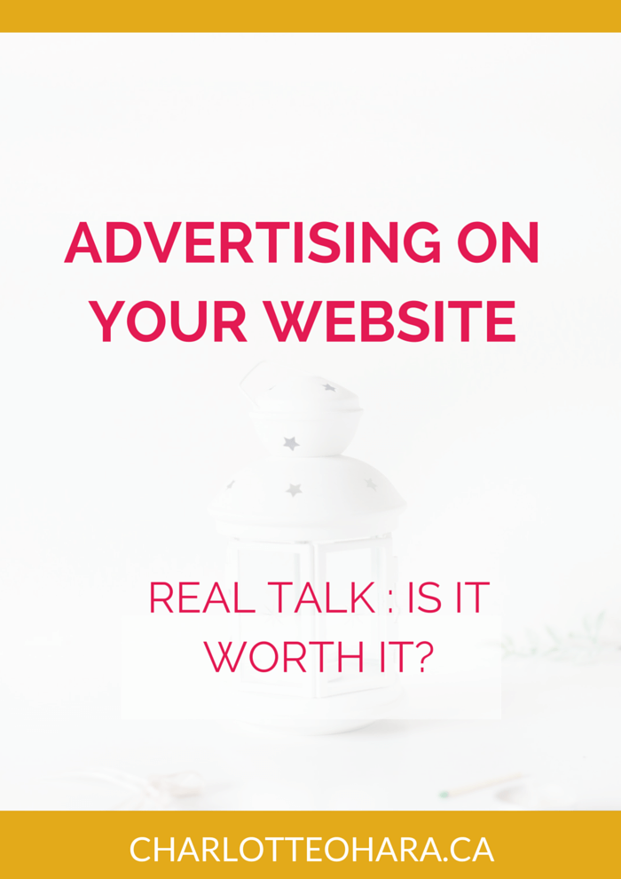 Advertising on Your Website is it worth it