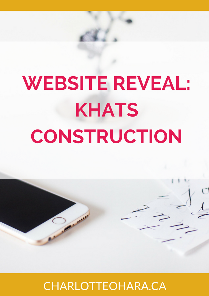 Website Reveal for Khats Construction