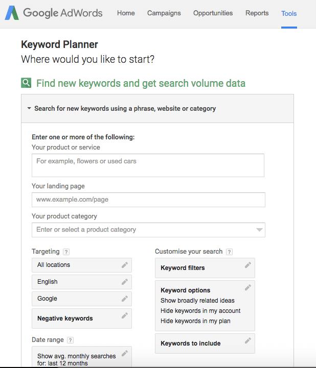 Google Adwords Keyword Planner | Squarespace SEO Blogging Tips