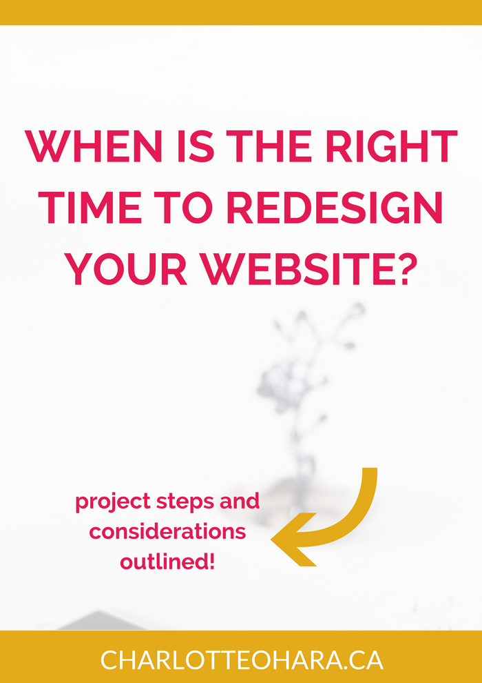 how to tell when its time for a website redesign and what steps to take project timeline