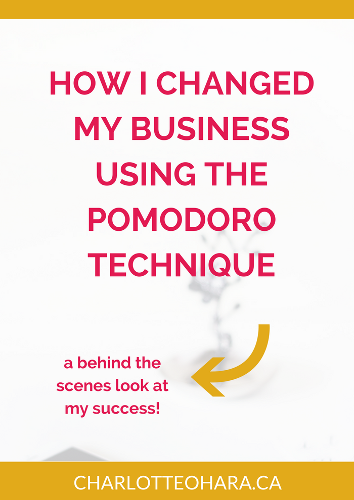 how i changed my business using the pomodoro technique