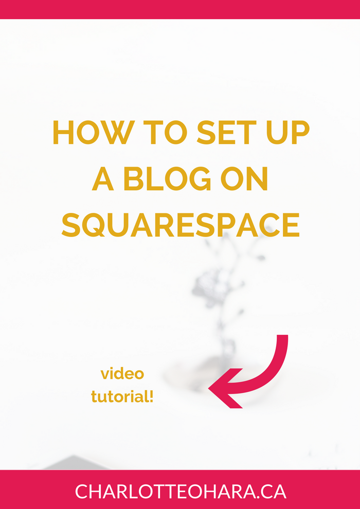 how to set up a blog on squarespace | video tutorial