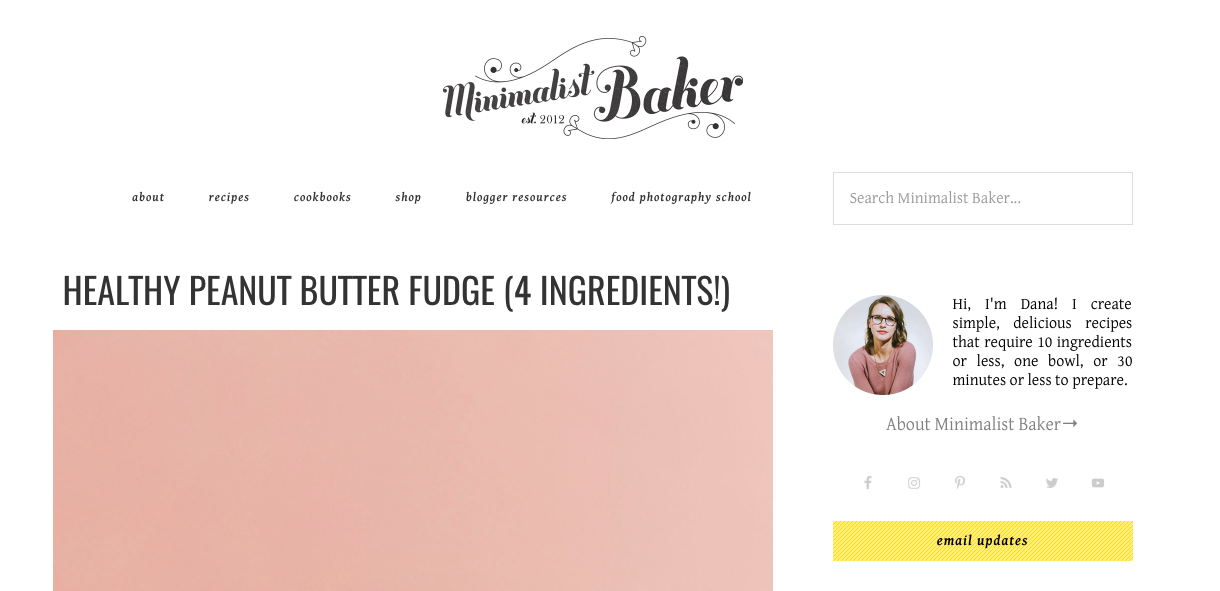Sidebar example minimalist baker