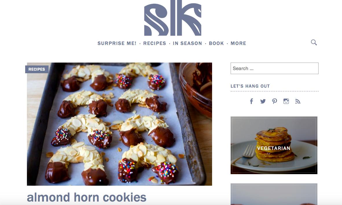 sidebar example smitten kitchen