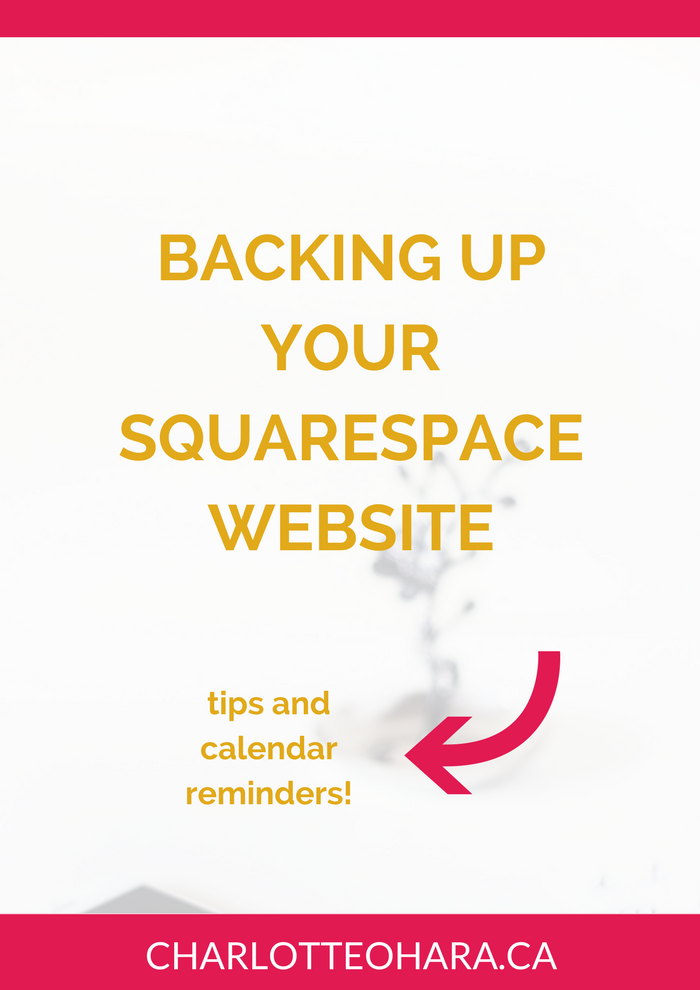 backing up your squarespace website
