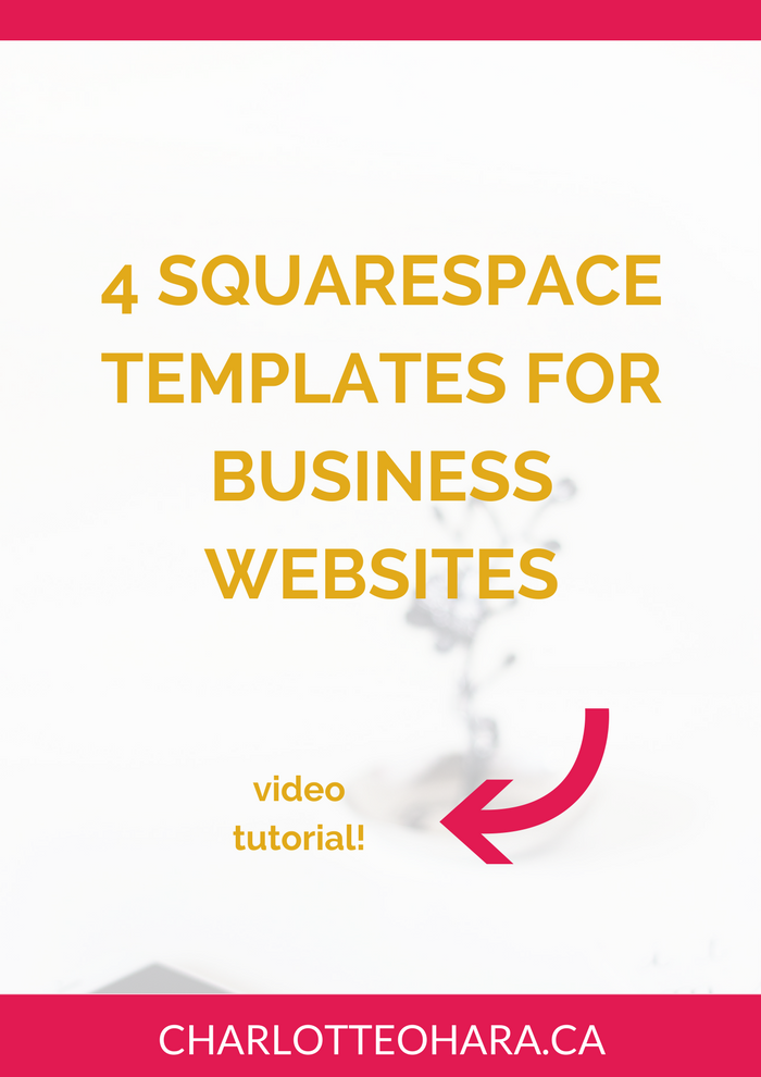 4 Squarespace templates for business websites