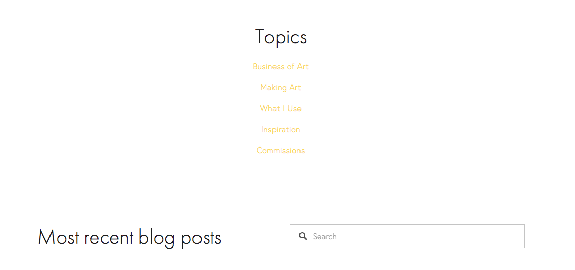 Blog page view before the post feed