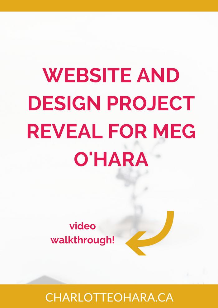 Website and design project reveal   Meg O'Hara