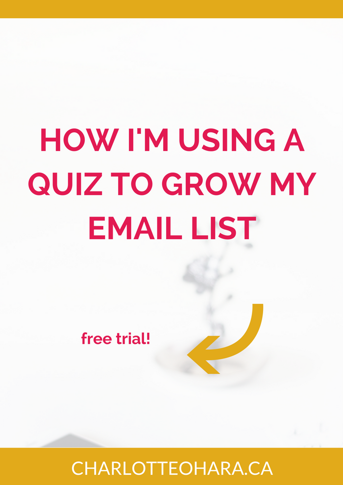 How i'm using a quiz to grow my email list | Charlotte O'Hara | Interact quiz
